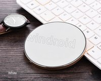 Wholesale Cheap Qi Chargers - LED Ultra Thin Metal Wireless Charger Qi Charging Pad For iPhone X 8 Plus With USB Cable For Samsung S6 S7 Edge S8 Plus Note5 8 GY-68 cheap