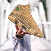 Wholesale Wheat Free - Wheat gold retro 13 fashion man basketball shoes high quality retro 13 trainers fashion sport sneakers free discount size 40-47