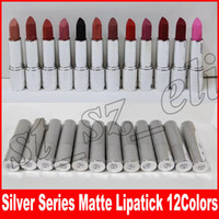 Wholesale best lip colors online - KY Cosmetics Silver Series Matte Lipstick Colors Lip Cream Moisturizer lip makeup Best Quality