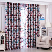 Wholesale textile materials - Fashion Korean Style Full Light Shading Curtain Colorful Polyester Fiber Material Curtains For Living Room Decor Textiles 16 5yf Z