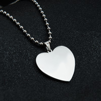 Wholesale wholesale customized jewelry - Customized Engraved Stainless Steel Pendant Necklace Heart Shaped Personalized with any message women men gift fashion jewelry wholesale