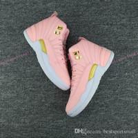 ingrosso girls pink shoes-Drop shipping women Cheap 12 GS Hyper Youth Pink San Valentino 12s Plum Fog Flu Gioco Scarpe da pallacanestro Ragazze Maestro Sneakers da taxi