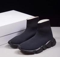 резиновые сапоги оптовых-Мужчины женщина новый скольжения на эластичной ткани скорость тренер Бегун человек обувь на открытом воздухе роскошные мужская Повседневная обувь плоские модные носки сапоги
