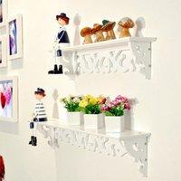 Wholesale Decoration Kitchen - 2018 Hot Sale 3 Sizes White Wall Hanging Shelf Rack Goods Convenient Storage Holder Home Bedroom Decoration Ledge S M L