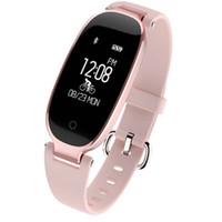 en iyi uzaktan kamera toptan satış-2018 S3 Akıllı İzle Moda Spor Bluetooth Akıllı Bileklik Telefonu Akıllı Saat Kadınlar Için Kalp Hızı Monitörü Smartwatch Kız