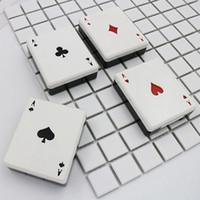 hayvan temas davası toptan satış-sevimli poker kartı kulüpleri elmas kalpleri gözlükler için bir kontakt lens çantası