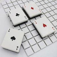 kontaktlinsen süßer kasten groihandel-süsse Poker-Karten-Clubs Diamanten Herzen Ein Kontaktlinsenbehälter für Linsen-Behälter-Box für Gläser