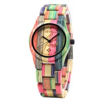 Wholesale wooden watch bewell for sale - Group buy Bamboo Wood Watches Bewell W105DL Colourful Watches for Ladies Wooden Watch with Adjustable Strap Gifts for Ladies