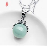 ingrosso orecchino di diamanti giada-Diamond Burma Jade A Carousel Pearl Chalcedony Red Agate Earring Oggetto Link Lutong
