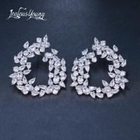 indische brautohrringentwürfe großhandel-Marke Design Mode Frauen Zweig Ohrstecker Mit Luxus Zirkon Silber Farbe Ohrringe für Braut brinco Indischen Schmuck bijoux