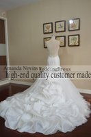 Wholesale actual mermaid wedding dresses resale online - Novias Actual Photos Sexy Backless Mermaid Wedding Dress