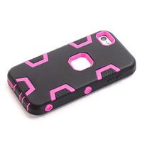 Wholesale Hybrid Armor in Hard PC Silicone GEL Case High Impact Robot Football Defender Ballistic For Apple Ipod Touch6 Touch TH Cover Luxury