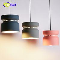 Wholesale Hot Pot Restaurant - FUMAT Creativity Postmodern Restaurant Pendant Lamp Nordic Hot Pot Shop Personality Macaron Lamp Coffee Shop Lamp Free Shipping
