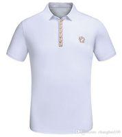 Wholesale Spot Shirt - 2018Summer new collar short sleeve men's cotton casual breathable T-shirt high-end spot European code