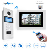 Wholesale ip door access control systems for sale - Group buy 7 WIFI IP Video Door Phone Intercom Wireless Door Bell Building Security Access Control System Touch Screen Password IC Card