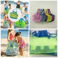 Wholesale wholesale boys toys for sale - 8styles Sand Away Beach Mesh Bag Large Portable Organizer Tote Toys Carrying Sea Shell Swimming Pool Storage Bag Kids Sand Bag FFA524