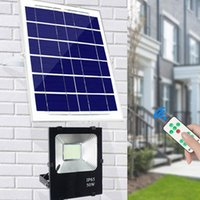Wholesale floodlight battery for sale - Solar Floodlight Sensor W W W W LM W Power Cell Panel Charge Battery Outdoor Waterproof Industrial Lamps PIR Motion Induction
