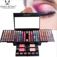 kits de maquillaje brillo al por mayor-180 colores mate nude shimmer paleta de sombra de ojos set de maquillaje con espejo de espejo Shrink kit de maquillaje de estuche cosmético profesional
