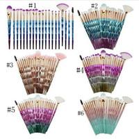 gölge tozu toptan satış-Makyaj Fırçalar 20 adet Mermaid Göz farı Fırçası Profesyonel makyaj Vakfı Pudra Allık DHL ücretsiz kargo
