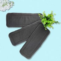 Wholesale Reusable Layers Of Bamboo Charcoal Insert Soft Baby Cloth Nappy Diaper Use Water Absorbent Breathable Diaper Hot Selling