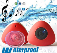 Wholesale factory cars - Mini New Waterproof Bluetooth Wireless Speaker handfrees with mic sucker speakers for shower car smartphone good quality for iphone factory