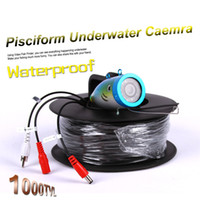 рыболовная камера hd оптовых-Pisciform подводная рыбалка камеры HD 1000TVL Fish finder 12шт Белый LED или ИК инфракрасная лампа Fishcam 15 м/30 м/50 м/80 м кабель