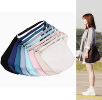 Wholesale wholesale fashion messenger bags - Fashion Canvas Shoulder Bag Literature and Art Model Sling Bag Blank Bag outdoor Portable Messenger bags GGA259 10pcs