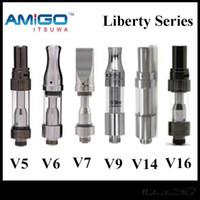 v6 tankı toptan satış-200% Orijinal Amigo iTsuwa Liberty V5 V6 V7 V9 V14 V16 Tank Seramik Kartuşları CE3 92a3 Buharlaştırıcı Ücretsiz DHL