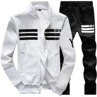 Wholesale black zip hoodies - New Brand Designer Tracksuit Men Luxury Winter Sportswear Hoodies Coat Loose Mens Fashion Tracksuits Zipper Sweatshirts Sets Plus Size 4XL