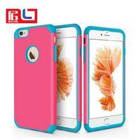 Wholesale iphone gel skin - For Apple iPhone 5S&SE Hybird Shockproof Rugged Gel PC Hard Case Cover Skin for Apple iPhone 6&6s Plus for Apple iPhone 7&7 Plus