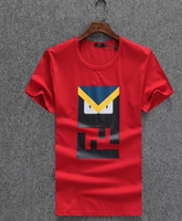 Wholesale Men Designer Wears - Hot Sale Top Brand Fashion Designer Men's Wear Cotton Men T-shirts Short Sleeve Print Casual T-shirt