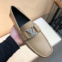 ingrosso tacchi a punta di bordeaux-Nel 2019 il nuovo marchio di lusso originale designer Peas scarpe uomo moda tempo libero scarpe da guida moda scarpe da uomo di design di lusso