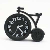 Wholesale cartoons alarm clock - Creative Cartoon Mute Bike Student Gifts Alarm Clock Fashion Home Decor Clock 2018 drop shipping wholesal