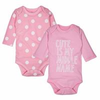 Wholesale garment bodysuits resale online - Baby Girls Clothing Newborn Baby Bodysuits Long Sleeved Cotton Child Garment Toddler Underwear Infant Clothes