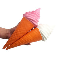 Wholesale ice roses resale online - Squishy Slow Rising Kids Novelty Toys Gifts Simulation Ice Cream Design Jumbo Squishies Bread For Adults Relief Stress New Arrive df W