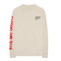 chemise d'été chinoise achat en gros de-2018 Été New High Street Tops KIDS VOIR FANTÔME Chinois Paysage Peinture T-shirts Col Rond Manches Longues T-shirts Kanye West Tops