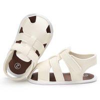 casual sandalen häkeln großhandel-Infant Kid Rutschfeste Sandalen Schuhe Baby Häkeln Schuhe Sommer Mode Design Sandalen für Jungen Einfarbig Freizeitschuhe