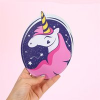 sevimli çanta desenleri toptan satış-Sevimli Karikatür Kalp Şeklinde Sikke çanta PU Baskı Unicorn Kart Paketi Çok Fonksiyonlu Bardian Saklama Çantası Yeni Desen 4 8ma Y
