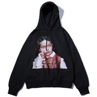 british style hoodies groihandel-Hoodies Männer Boy Print britischen Stil mit Kapuze Pullover High Street Mode Baumwolle Hip Hop Streetwear Oansatz Hoodie Herbst