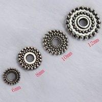Grano de aleación de estilo tibetano Tapas separadores formas mixtas conos de metal de plata antigua