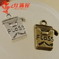 ingrosso gioielli che fanno gli accessori della porcellana-A3960 12 * 17 MM accessori Esplosivi FAI DA TE Love Floss charms, pendente della collana dei monili d'ottone della tazza dei denti, pendente d'argento d'argento dei pendenti Cina