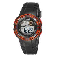 pin temporizador al por mayor-Nuevos Relojes para Niños Deporte Relojes de Pulsera Digital Timer Alarm Chrono 30M Impermeable Reloj para Niños Estudiante Regalo Negro