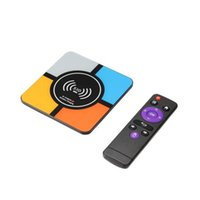 Wholesale latest smart tv box s10 plus android os with wireless charger functionwireless power bank charger