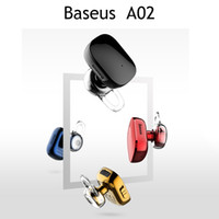 Wholesale wireless tablet headphones for sale - Group buy Baseus Bluetooth Headphones A02 Earphones Mini In Ear Stereo Wireless Earbuds With Mic for Phone and Tablet