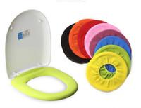 Wholesale toilet lid set resale online - Warm Soft Toilet Cover Seat Lid Pad Bathroom Closestool Protector Bathroom Accessories Set Toilet Seat Cover Mat