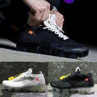 Wholesale floor free - 2018 New fashion designer mesh Vapormax casual shoes men women trainers black sneakers Size 36-45 Free 3 colors shoelaces