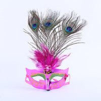 show ball groihandel-2018 neue Frauen Lady Pfau Feder Maske Dance Performance Show Prinzessin Ball Masken Halloween Dance Party Kleid Dekor
