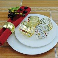 guardanapo do partido chinês venda por atacado-12 pcs guardanapo anel de guardanapo de ouro titular prata chinesa guardanapo de parede anel ocidental toalha de jantar anel de decoração do partido decoração de mesa
