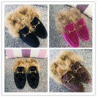 Wholesale classic velvet slippers for sale - Group buy 2018 WOOL WOMAN SLIPPERS PRINCETOWN GG VELVET SLIPPERS JT10 BRAND DESIGNERS FASHION WOMAN SLIPEERS