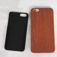 ingrosso iphone genuino di bambù-Caso di legno genuino caldo per Iphone X 6 7 8 Copertina rigida che intaglia il guscio di telefono in legno per Iphone 7 Plus Custodia in bambù di lusso S9 Retro Protector